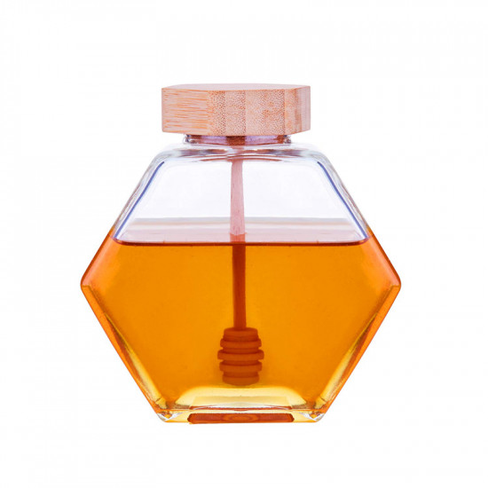 220ML Hexagonal Glass Jar